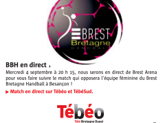 Le Stade Brestois vous invite à suivre les filles du Brest Bretagne Handball Officiel qui affrontent Besançon (ESBF Handball) ce soir à 20h15 en clair et en...