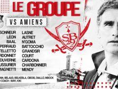 #SB29ASC 🔴⚪⚔Supporters brestois ! Voici le groupe de 18 joueurs défini par coach #ODO pour affronter l'@AmiensSC ce samedi à 20h au stade Francis-Le Blé dans...